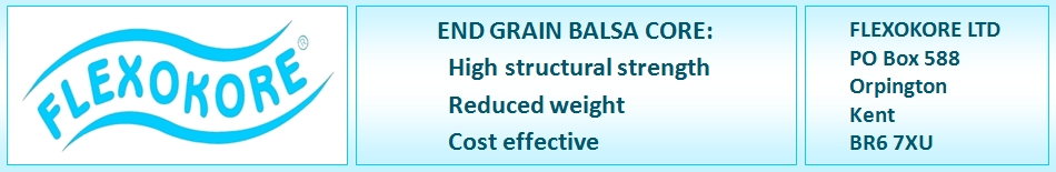 Flexokore - End Grain Balsa Core, High structural strength, Reduced weight, cost effective